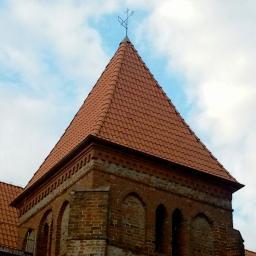 Dachówka mnich-mniszka SanMarco - Kościół w Okonin