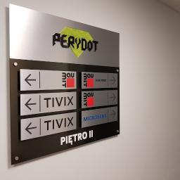 Oznakowanie wnętrz - tablica zbiorcza na piętrze