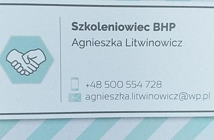 Szkoleniowiec BHP Agnieszka Litwinowicz - Szkolenia BHP Biała Podlaska