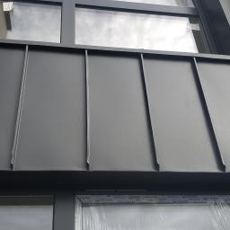 Pokrycie na rąbek ścian, parapetów, obróbki okien. Kraków Zabłocie