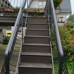 Okucie schodów tarasowych. Zakopane 2020