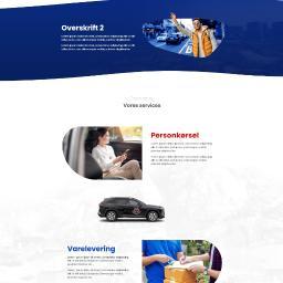 Projekt strony www dla firmy Taksówkarskiej w Dani.
