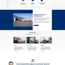 Realizacja strony internetowej dla Transportu Międzynarodowego