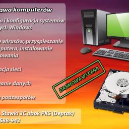 PC KUS Naprawa elektroniki / Usługi informatyczne Naprawa komputerów Łuków ul. Stawki 3C obok PKS (Deptak) Tel: 888-588-943