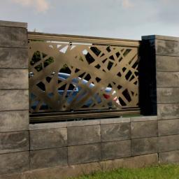 Laserowo wycinane ogrodzenia Asensores ART. - Siatka ogrodzeniowa Lubzina