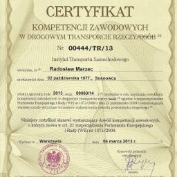 RMC Rados艂aw Marzec - Prze艂adunki towarów Mys艂owice