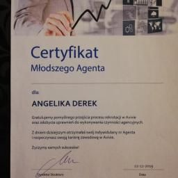 Angelika Derek - Ubezpieczenie firmy Kamińsko