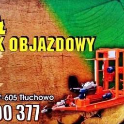 Tartak objazdowy - Dekarz Tłuchowo