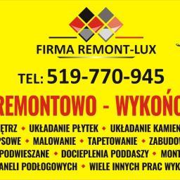 FIRMA REMONT-LUX usługi remontowo-wykończeniowe - Malarz Siennica