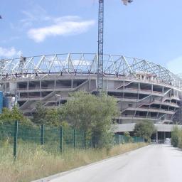 Alianz Arena Monachium, roboty wykończeniowe. Lindner S A