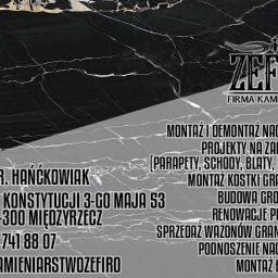 Firma Kamieniarska Zefiro - Pomnik Międzyrzecz