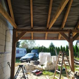 Dom w miejscowości Przeginia. Przygotówka pod instalację w garażu.