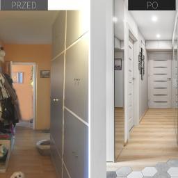 metamorfoza korytarza w trzypokojowym mieszkaniu