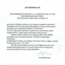 Zakład Ogólnobudowlany OGBUD - Usługi Obrzycko