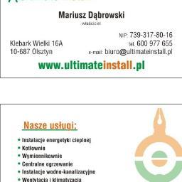 Ultimate Install Mariusz Dąbrowski - Instalacje sanitarne Olsztyn