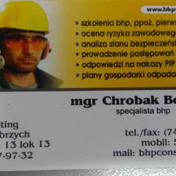 BHP BCH Consulting Bogdan Chrobak - Biznes Plan Firmy Budowlanej Wałbrzych
