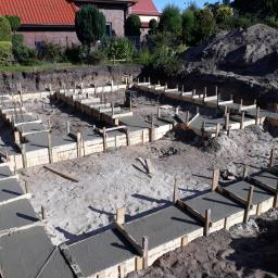 Rumia. Dom w Żurawkach Zabetonowane ławy fundamentowe :)