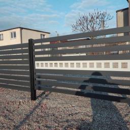 Wykonane ogrodzenie nowoczesne na specjalne zamówienie klienta z Rybnika.
