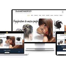 Strona internetowa firmowa dla usług fryzjerskich z Warszawa Białołęka, strona jest nowoczesna dynamiczna, posiada panel zarządzania treścią CMS, oraz wersje tabletową i mobilną. Stworzona na silniku word press