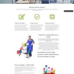 Strona wizytówka firmy sprzątajacej Aloeclean.pl Tworzenie stron internetowych