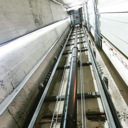 Dźwig hydrauliczny 630kg 6 przystanków, tłok skręcany dwuczęściowy