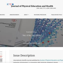"""Strona czasopisma naukowego """"Journal of Physical Education and Health"""" wydawanego na Politechnice Opolskiej. Strona oparta na """"Open Journal Systems"""". Instalacja, wdrożenie, konfiguracja oraz szkolenie - Com-Learn"""