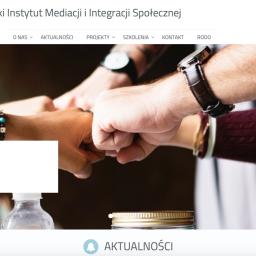 Strona internetowa Polskiego Instytutu Mediacji i Integracji Społecznej (klient Com-Learn)