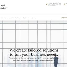 Opracowanie angielskiej wersji strony kancelarii prawnej Legal Atelier.