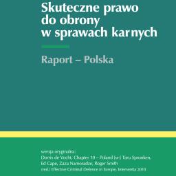 Tłumaczenie anglojęzycznej publikacji z dziedziny prawa karnego.