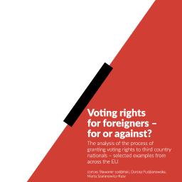 Tłumaczenie (ang-pol i pol-ang) pracy o prawach wyborczych migrantów, projekt International Organization for Migration, UW i MSWiA.