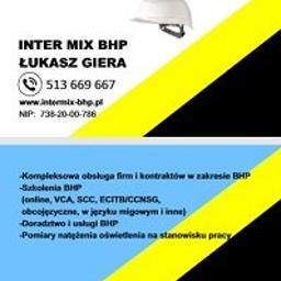 INTER MIX BHP Łukasz Giera - Szkolenia BHP Bobowa