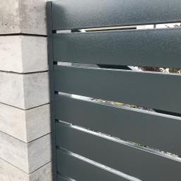 Ogrodzenie murowane z przęsłami palisadowymi