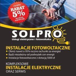 SOLPRO - USŁUGI ELEKTRYCZNE I FOTOWOLTAIKA - Projektant instalacji elektrycznych Głogów