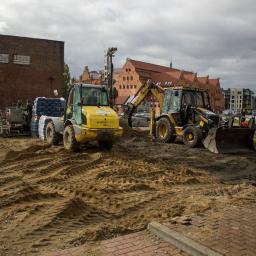 Utwardzanie podłoża pod koło widokowe AmberSky w Gdańsku