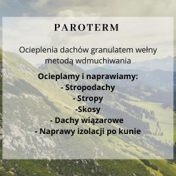 PAROTERM - Ocieplanie poddaszy Gliwice