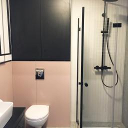 Łazienka w biurze projektowym, usługa kompleksowa
