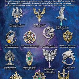 """Ulotka zaprojekowana dla producenta biżuterii symbolicznej z Anglii promująca nową kolekcję """"Mythic Celts""""."""