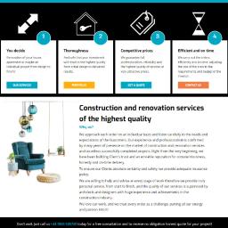 Copywrting wszystkich tekstów w języku angielskim na stronę firmy budowlanej z Londynu. www.allpossible.co.uk