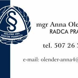 Kancelaria Radcy Prawnego Anna Olender - Obsługa prawna firm Łomża