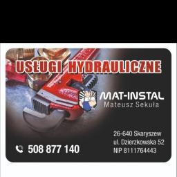 Mat-Instal Usługi Hydrauliczne - Piece i kotły CO Skaryszew