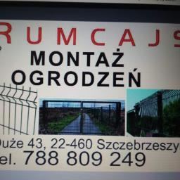 RUMCAJS usługi - Montaż ogrodzenia Zamość
