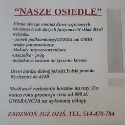 """NASZE OSIEDLE"" KAROL VIBERT - Drzwi Żyrardów"