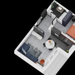 floor plan małego mieszkanka
