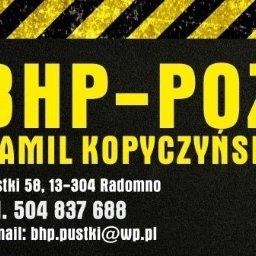 BHP-POŻ Kamil Kopyczynski - Szkolenia BHP Radomno