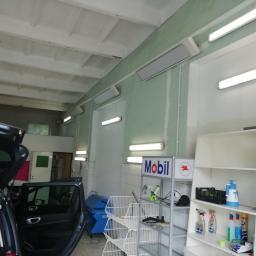 Ogrzewanie w podczerwieni w myjni samochodowej - dział kosmetyki.