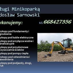 Usługi minikoparką Radosław Sarnowski - Roboty ziemne Grudusk