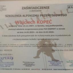 GRISEO Alpinizm przemysłowy, Usługi wysokosciowe - Odśnieżanie Sanok