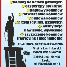 Kominiarz Lesko zakład kominiarski Marek Więckowski - Kominki Lesko