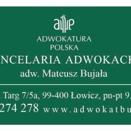 Kancelaria Adwokacka Adwokat Mateusz Bujała - Windykacja Łowicz