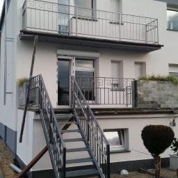 Balkon taras i schody ocynkowane i pomalowane proszkowo
